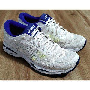 Asics Womens Gel-Kayano 24 White Blue Sneakers